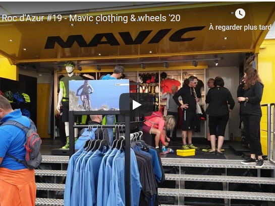 """Live Roc d'Azur #19 - Mavic textile et roues '20 - Dans cette série """"Live Roc d'Azur"""" retrouvez nos vidéos des grandes marques de vélo de route, VTT, gravel et cyclo-cross, réalisées à l'occasion du Roc d'Azur 2019. Aujourd'hui c'est au tour des nouveautés textile et roues 2020 de l'équipementier Français Mavic. Live Roc d'Azur #19 - Mavic textile et roues '20 - Dans cette série """"Live Ro"""