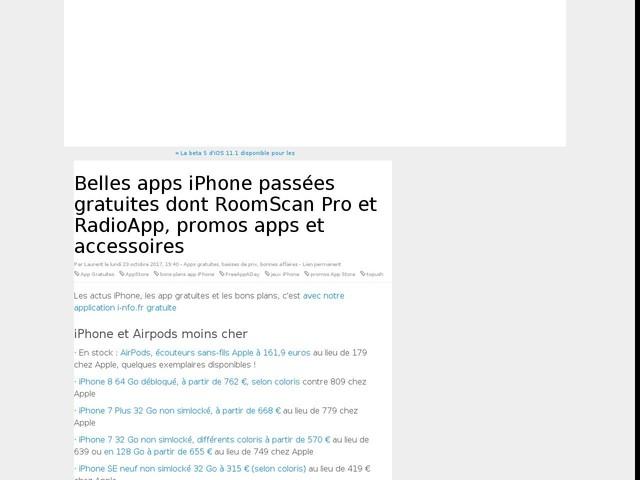 Belles apps iPhone passées gratuites dont RoomScan Pro et RadioApp, promos apps et accessoires