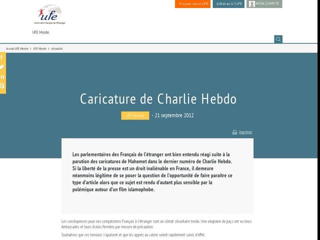 Caricature de Charlie Hebdo