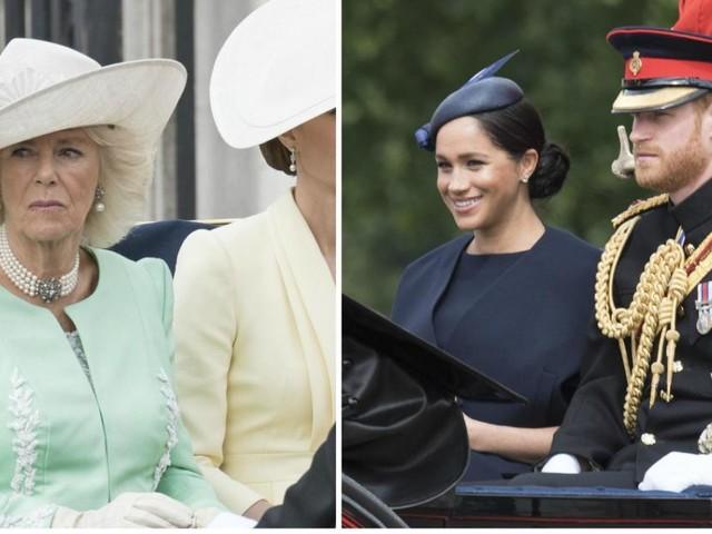 «Hmmm....»: l'étrange réponse de Camilla Parker Bowles, la belle-mère du prince quand on lui demande si Harry et Meghan vont lui manquer (vidéo)