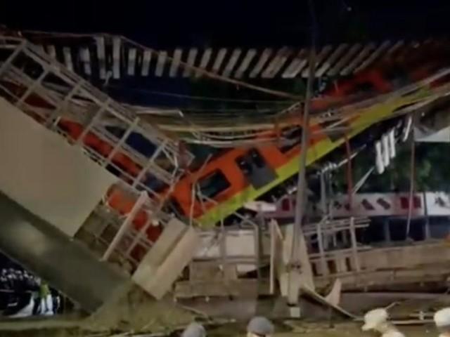 Mexique : Un pont s'effondre au passage d'un métro et tue au moins 20 personnes