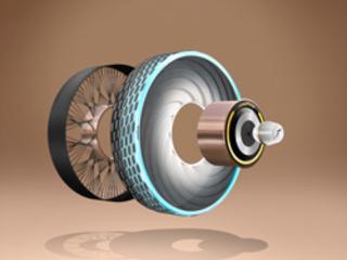 Le pneu-concept Goodyear reCharge se recharge avec des capsules individuelles