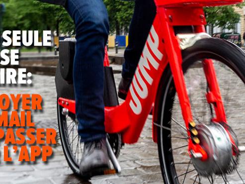 """Son vélo JUMP volé à Etterbeek avant d'avoir pu le verrouiller: """"La course continuait à courir sur mon téléphone!"""""""