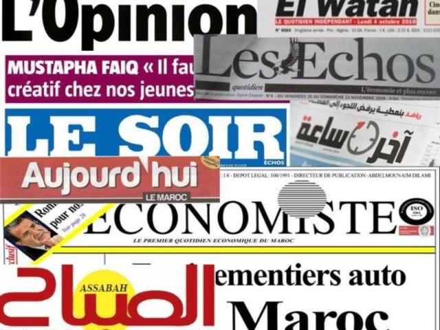 Economie, énergie, culture et sport au menu des quotidiens marocains