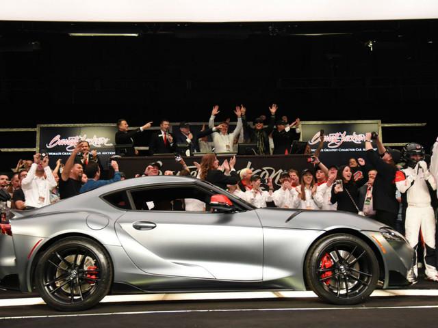 Toyota Supra 2019: le premier exemplaire vendu 2 millions de dollars