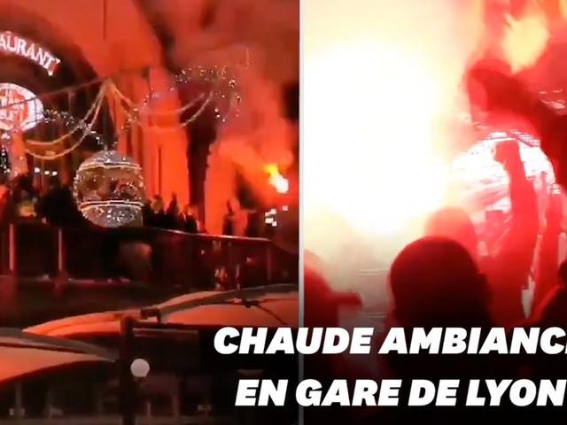 Manif du 5 décembre: les cheminots envahissent la gare de Lyon