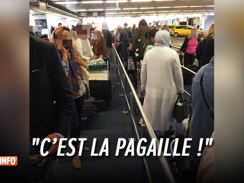 Des passagers surpris par les files pour prendre un taxi à l'aéroport de Bruxelles ce dimanche