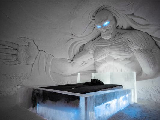 Bienvenue à l'hôtel de glace Game of Thrones en Finlande