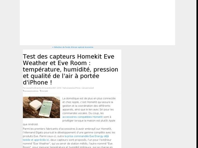Test des capteurs Homekit Eve Weather et Eve Room : température, humidité, pression et qualité de l'air à portée d'iPhone !