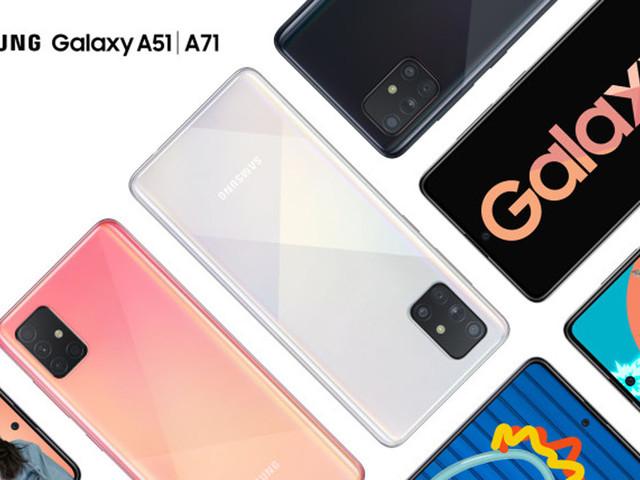 Samsung annonce les Galaxy A51 et A71, des terminaux équipés de cinq modules caméra