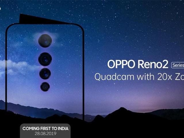 Oppo Reno 2 : quadruple capteur photo et zoom x20 au programme