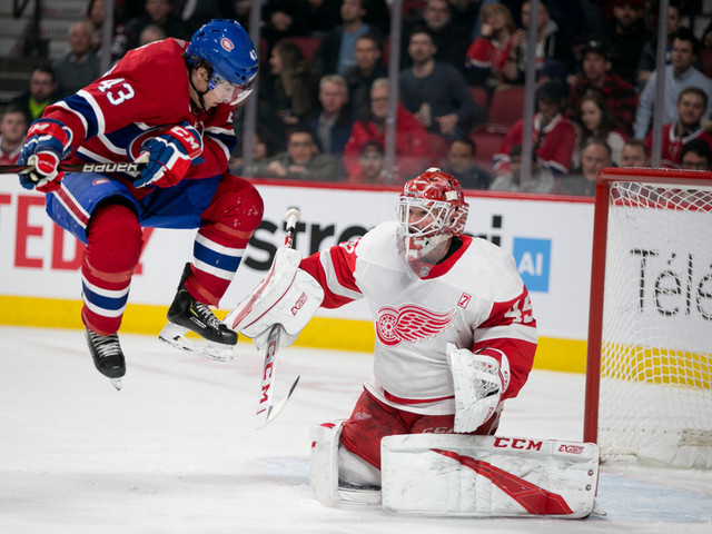 Red Wings 1 - Canadien 0 (1er entracte)