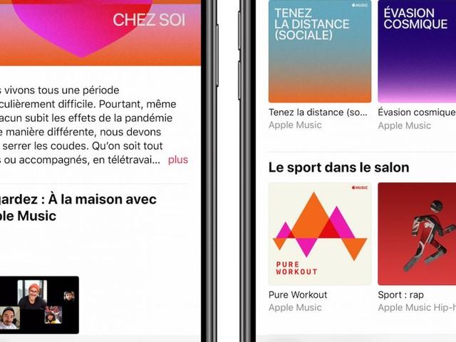 Apple Music dévoile de nouvelles playlists pour le confinement
