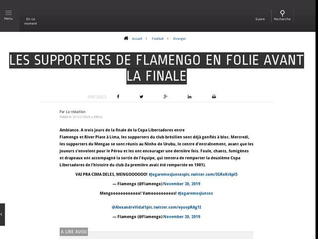 Football - Etranger - Les supporters de Flamengo en folie avant la finale