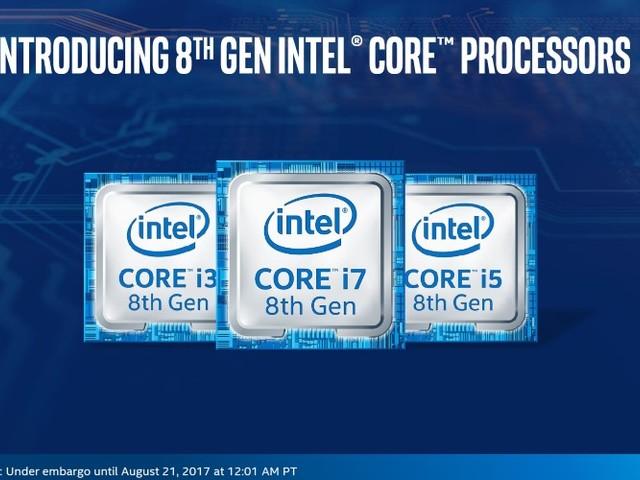Les premiers processeurs Intel Core de 8e génération sont officiels