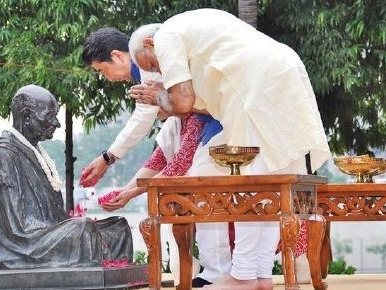 Personal touch: Modi chooses where Abe should eat, what he should visit