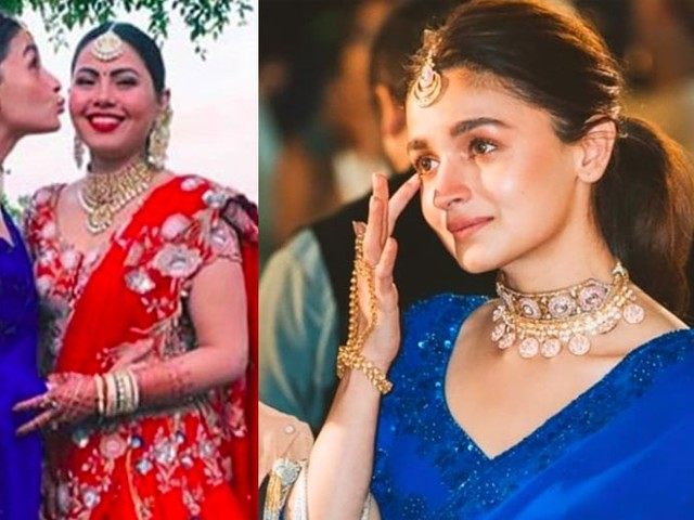 All the pictures of bridesmaid Alia Bhatt from her friendâs wedding