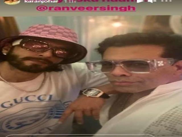 Karan Johar ने रॉकी रणवीर सिंह के साथ शेयर की सेल्फी, देखें वायरल फोटो