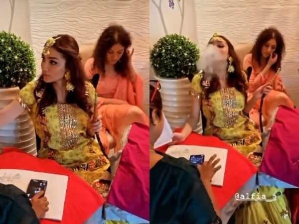 अपनी मेहंदी सेरेमनी में धुएं का छल्ला बनाती दिखीं रूमी जाफरी की बेटी, हुक्का पीते हुए वायरल हुआ अल्फिया जाफरी का ये वीडियो