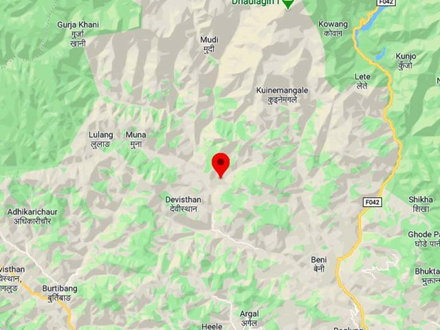Seven of two families buried in Myagdi landside