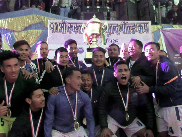 Jhapa XI successfully defend Falgunanda Gold Cup