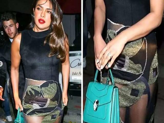 प्रियंका चोपड़ा ने पहनी हद से ज्यादा ट्रांस्पैरेंट ड्रेस, छोटी स्कर्ट को बैग से छुपाती आईं नजर