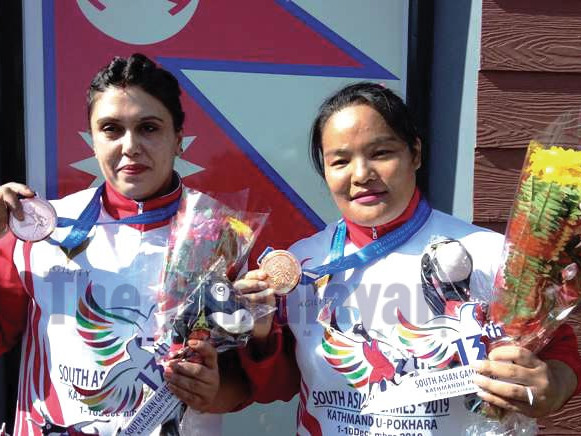 Nepali lifters claim two silver medals