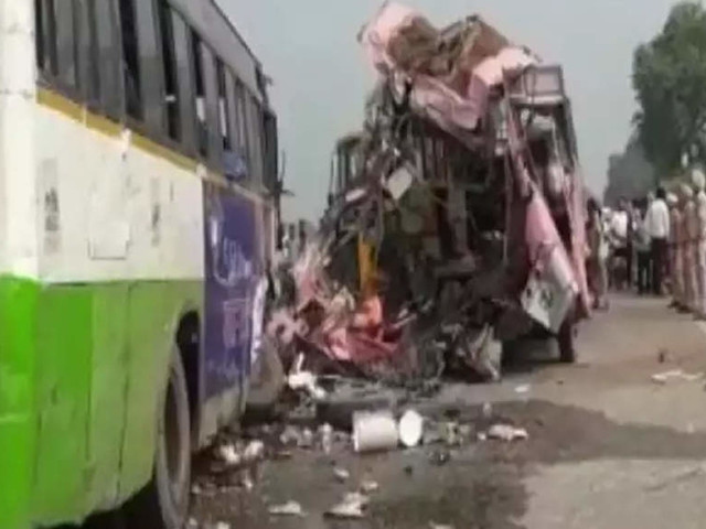 Three killed, 40 injured in collision of buses in Punjab; CM announces relief