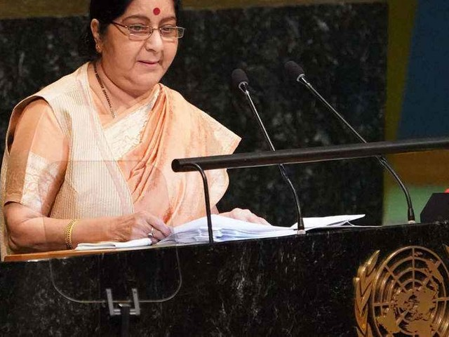 Sushma Swaraj at UN: Pakistan is harboring terrorists