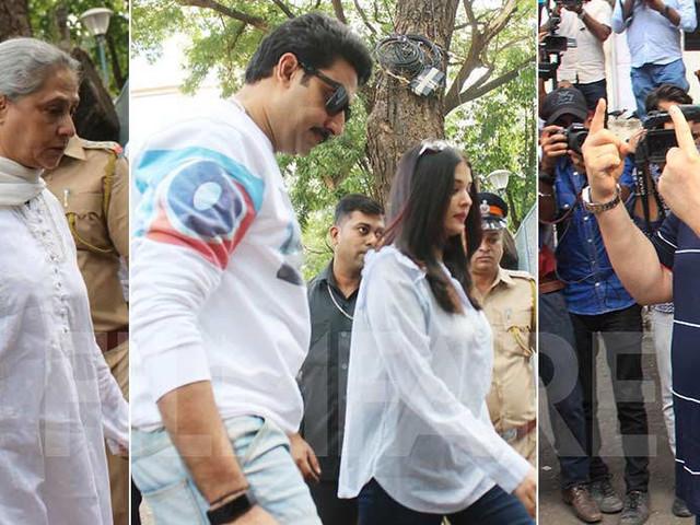 Abhishek and Aishwarya Rai Bachchan head out to cast their votes