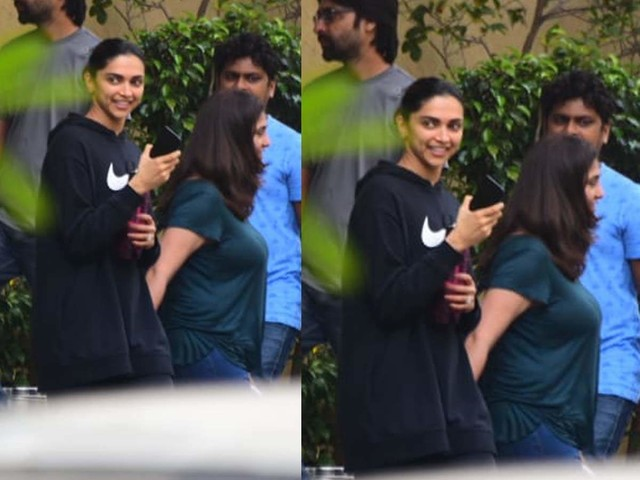 After Ranveer, Deepika sports a giant hoodie!
