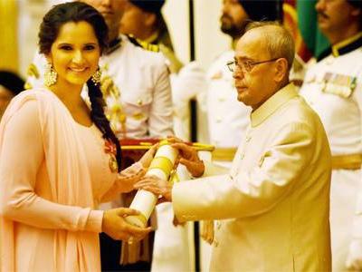 Sania Mirza honoured with Padma Bhushan