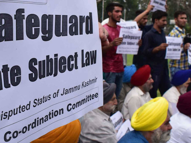 Govt may review its stand on Article 35A