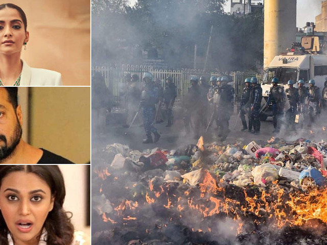 Hereâs how Sonam Kapoor Swara Bhasker Anurag Kashyap and others reacted to the Delhi riots