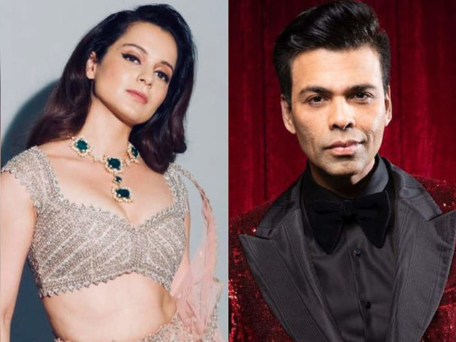 Kangana on a report of KJo's production team