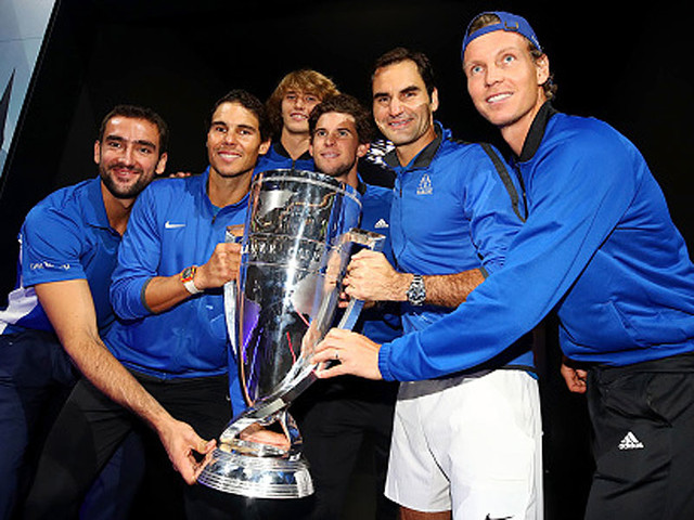 Roger Federer leads Europe to maiden Laver Cup title
