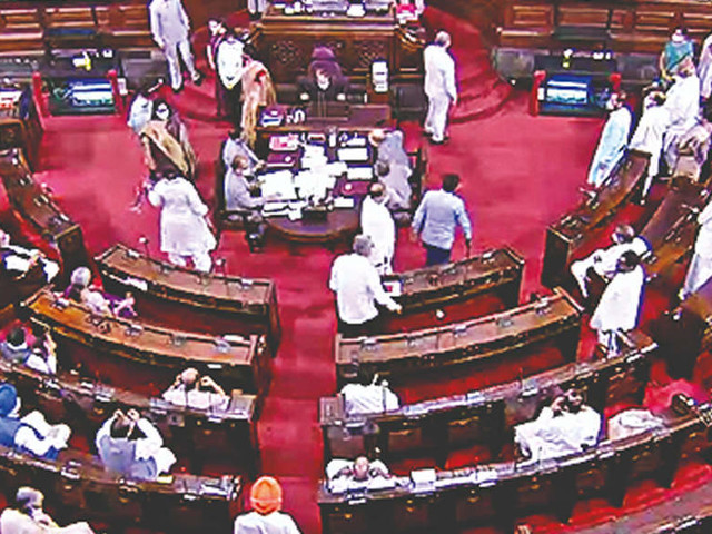 Trinamool MP Shantanu Sen suspended for the rest of session for 'unruly conduct'