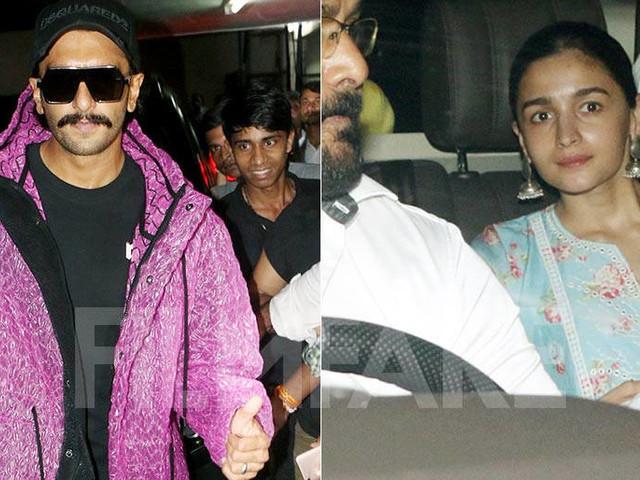 Alia Bhatt and Ranveer Singh catch up at Dharma office