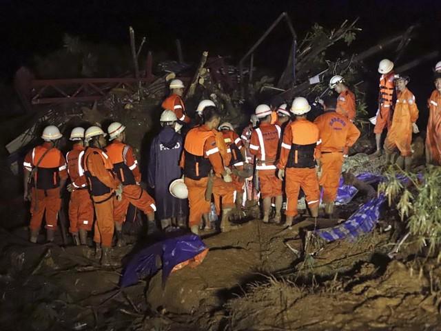 Landslide in southeast Myanmar kills at least 10 people
