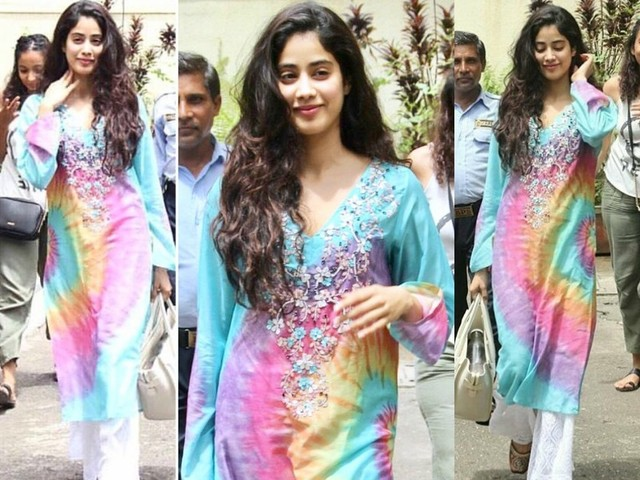 Pics: Janhvi Kapoor looks winsome in multi-hued attire
