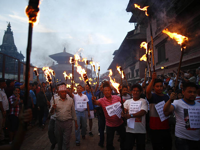 In Pictures: Guthi Bill protest in Kathmandu valley