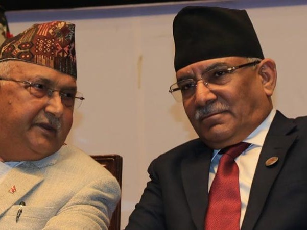 Dahal urges Oli to ask Karnali lawmakers to withdraw no-confidence vote