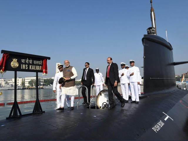PM Modi commissions INS Kalvari