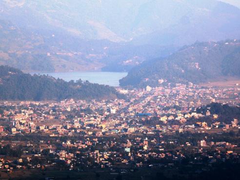 Panoramic view of Begnas Lake