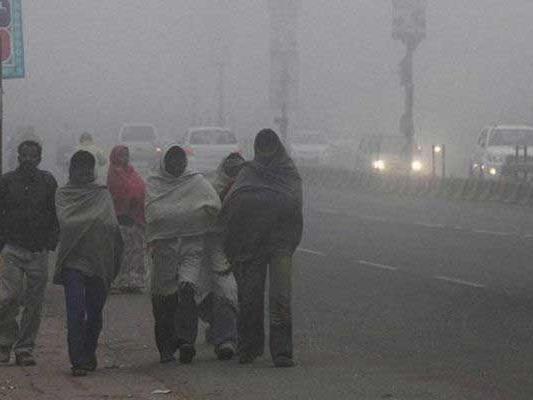 दिल्ली, दृश्यता तापमान में गिरावट
