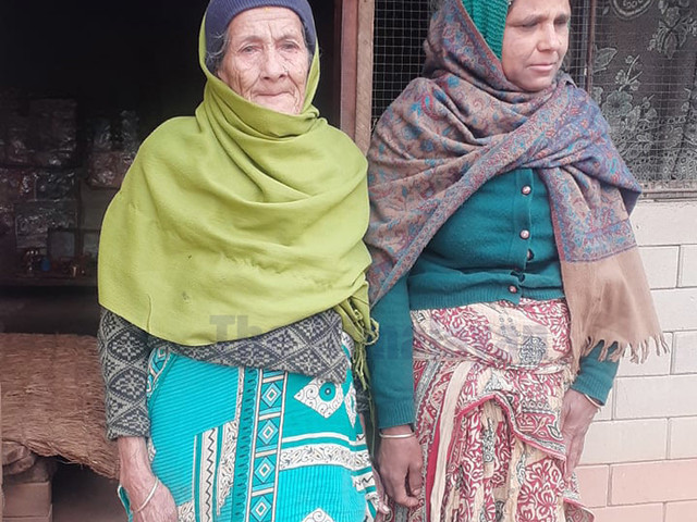 Octogenarian struggles to look after herself and visually impaired daughter-in-law