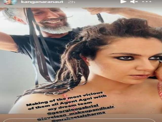 Kangana Ranaut ने शेयर की अपने 'धाकड़' किरदार 'एजेंट अग्नि' की झलक
