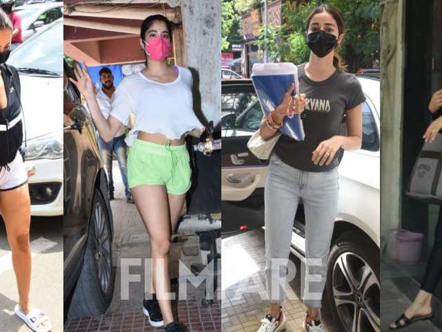 Photos: Malaika Arora Jacqueline Fernandez Janhvi Kapoor Ananya Panday snapped in the city