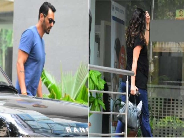 Arjun Rampal गर्लफ्रेंड Gabriella Demetriades के साथ हिंदुजा अस्पताल के बाहर आए नजर, प्रेग्नेंट हैं Gabriella