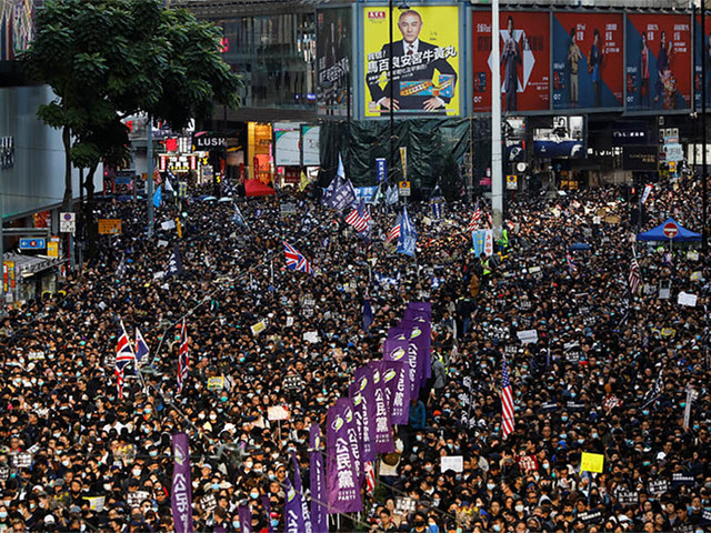 Hong Kong sees biggest protests since democrats' election boost